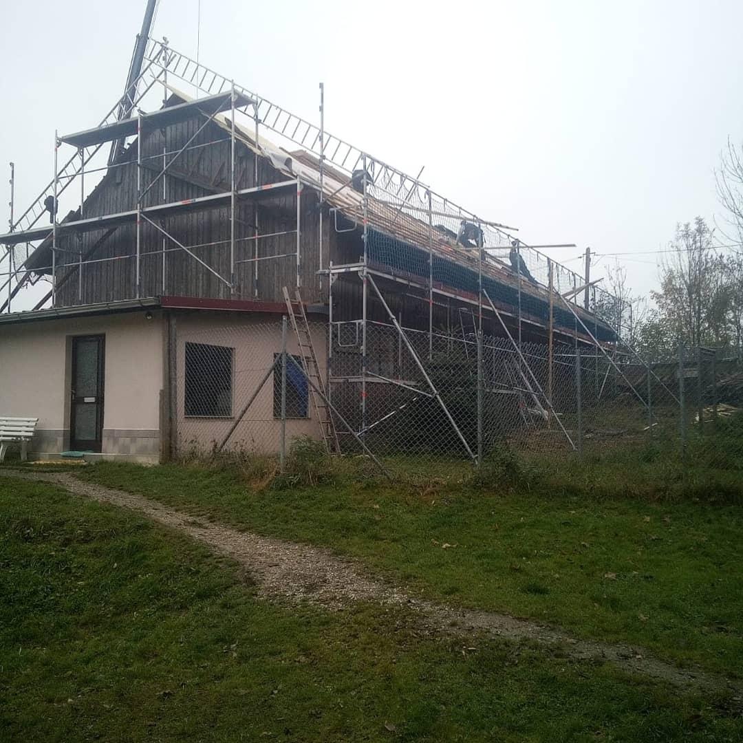 Neues Scheunendach